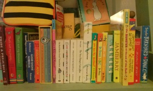 Shelf of board books