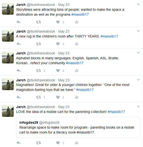 Screenshot of several tweets about Mind in the Making