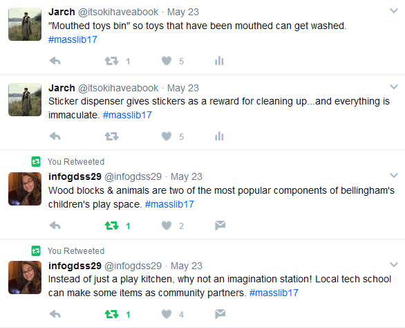 Screenshots of tweets from Mind in the Making session