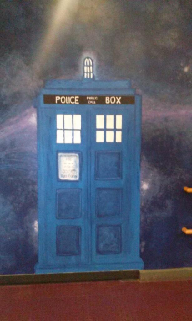TARDIS mural