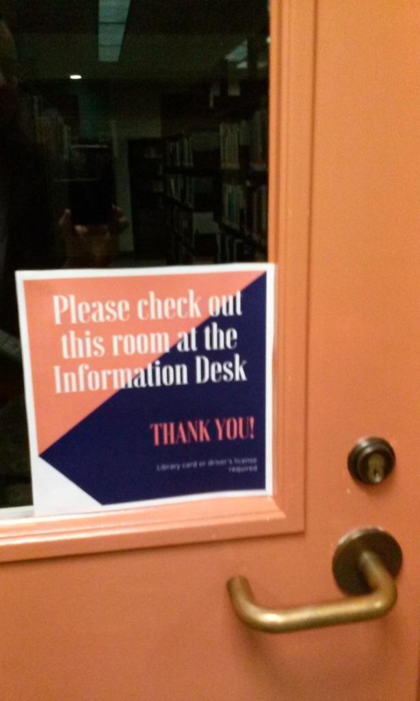 Study room door sign