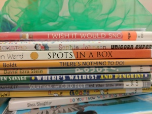 Storytime books and scarf