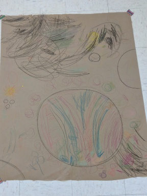 Crayon on butcher paper