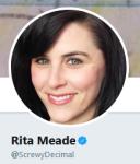 Rita Meade ScrewyDecimal Twitter bio