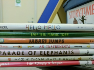 Stack of storytime titles