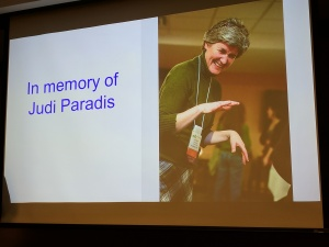 In memory of Judi Paradis