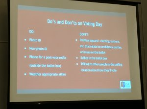Do's and Don'ts on Voting Day slide