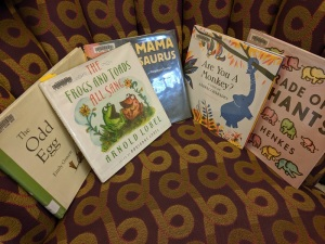 The final lineup of picture books read today