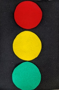 Traffic light felt board