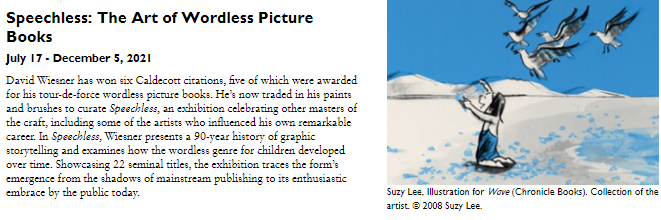 Screenshot of exhibit text and image from the Carle website